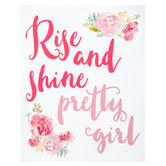 Rise & Shine Pretty Girl Canvas Wall Decor